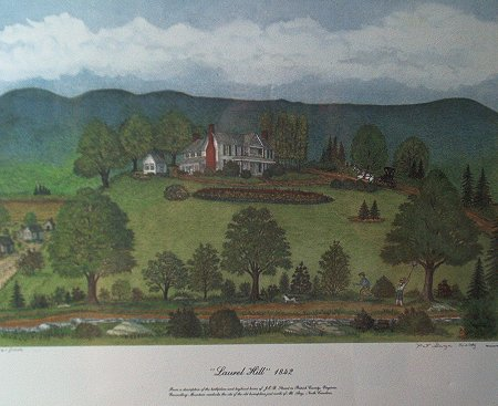 Laurel Hill 1842 by Pat G. Woltz - 17x22 colored print
