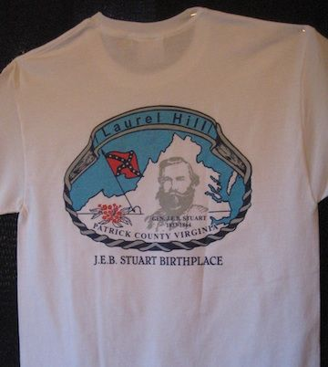 T-Shirt with VA map & Birthplace location